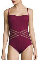 Kenneth Cole New York Tough Luxe One-Piece Bandeau Mio Bikini