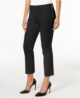 Alfani Cropped Side-Zip Pants, Created for Macy's