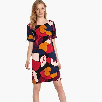 La Redoute Collections Camouflage Print Shift Dress