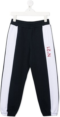 No21 Kids Colour-Block Track Pants