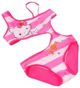 XUNYU Kids Girls One Piece Swimsuits Cartoon Hollow Out Backless Swimwear