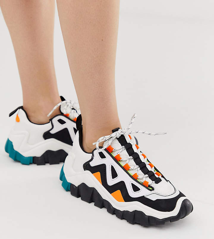 fe4ce795539 chunky color block sneakers in multi
