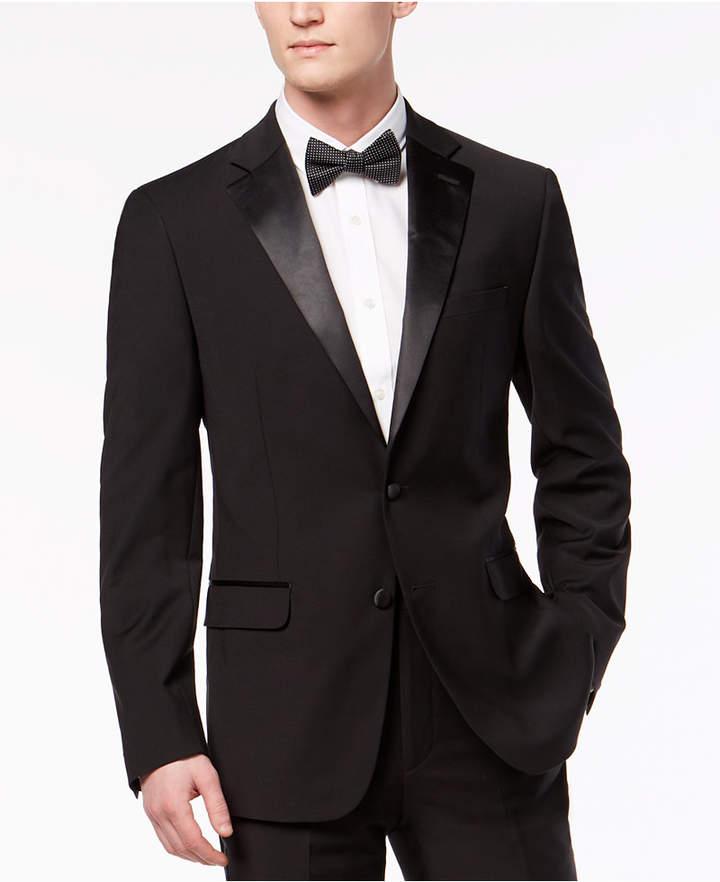 Calvin Klein Men's X-Fit Infinite Stretch Black Tuxedo Jacket