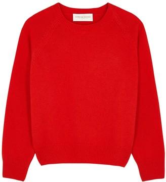 La Prestic Ouiston Ras Du Cou Red Wool Jumper