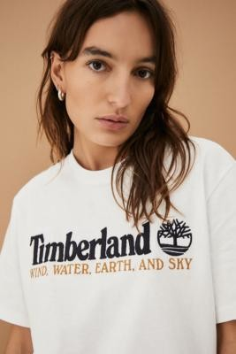Timberland UO Exclusive White Wind, Water, Earth and Sky T-Shirt - White M at Urban Outfitters