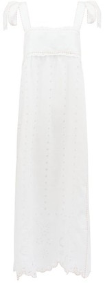 Vita Kin - Charlotte Broderie-anglaise Linen Maxi Dress - White