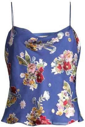 Alice + Olivia Harmon Floral Chiffon Camisole