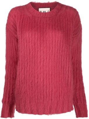 Plan C Purl Knit Mohair-Blend Jumper