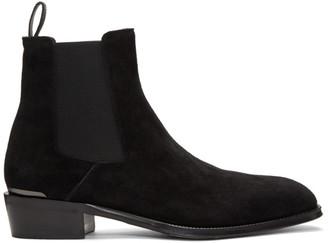 Alexander McQueen Black MICM Chelsea Boots