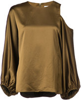 Tibi cut out shoulder blouse