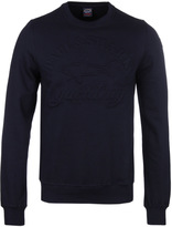 Paul & Shark Navy Embossed Crew Neck Sweatshirt