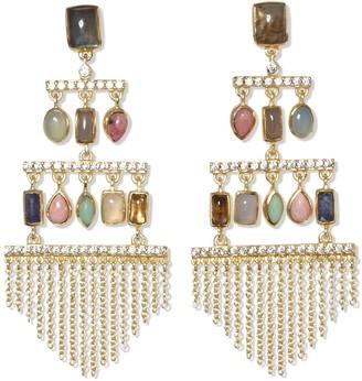 Sole Society Multi Stone Chandelier Drop Earrings