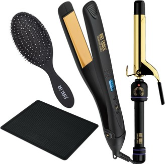 Hot Tools Signature Series Flat iron and Curling Iron Ultimate Styling Kit Box