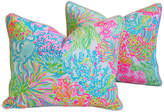 One Kings Lane Vintage Nautical Beach Ocean Floral Pillows