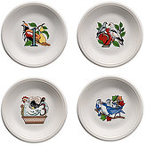 Fiesta Twelve Days of Christmas Series 1 Days 1-4 Salad/Dessert Plates, Set of 4