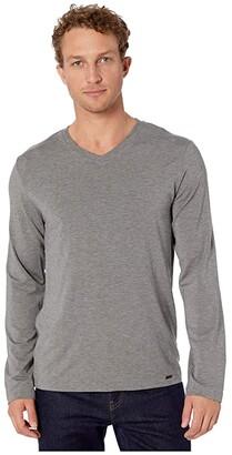 Hanro Casuals Long Sleeve Shirt (Stone Melange) Men's Clothing
