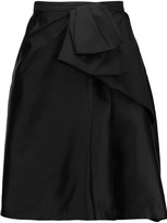 Raoul Bice Bow pleated silk-blend mini skirt