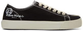 Maison Margiela Black Canvas Tabi Sneakers