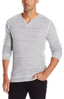 Buffalo David Bitton Men's Kinley Long Sleeve Slit Neck Knit Shirt