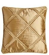 "Austin Horn Classics Synopsis Ruffle-Lattice Pillow, 18""Sq."