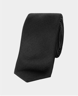 The Kooples Plain black silk tie