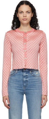 Calle Del Mar Pink Checkered Cardigan