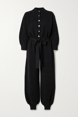 Madeleine Thompson Thurman Belted Cashmere Jumpsuit - Black