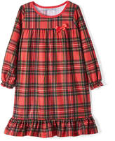 Red Plaid Bow Nightgown - Toddler & Girls
