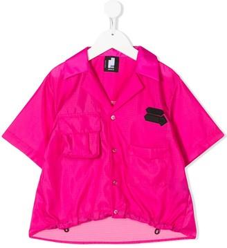 Cinzia Araia Kids Logo Patch Front-Pocket Shirt