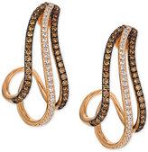 LeVian Le Vian® Chocolatier Diamond Drop Earrings (3/4 ct. t.w.) in 14k Rose Gold
