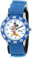 Disney Kids' W000002 Mickey Mouse Stainless Steel Time Teacher Watch