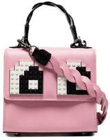 Les Petits Joueurs Pink Baby Alex Eyes Leather Cross Body Bag