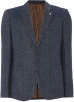Peter Werth Men's Pilot Herringbone Cut & Sew Blazer