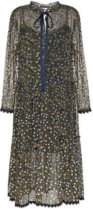 See by Chloe polka-dot midi dress