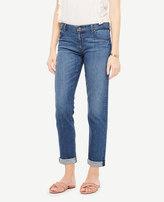Ann Taylor Petite All Day Girlfriend Jeans in Windblown Wash