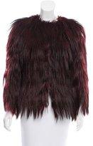 Dolce & Gabbana Burgundy Fur Jacket