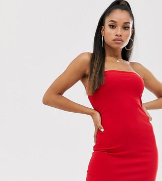 Fashionkilla Petite going out bandeau mini dress red