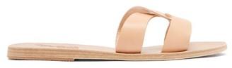 Ancient Greek Sandals Desmos Leather Slides - Womens - Tan