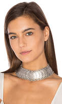 Natalie B Cyprus Choker Necklace in Metallic Silver.