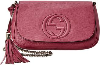 Gucci Purple Leather Chain Soho Bag