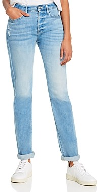 Frame Le Beau High-Rise Boyfriend Jeans in Walden Rock