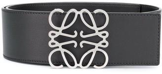 Loewe Anagram leather buckle belt