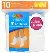 Fruit of the Loom Women's Plus-Size 10 Pack No Show Socks