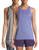 Athletic Works Women's Active Performance Fashion Tank Top 2-Pack Bundle