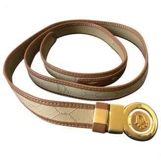 Christian Dior Beige Cloth Belts