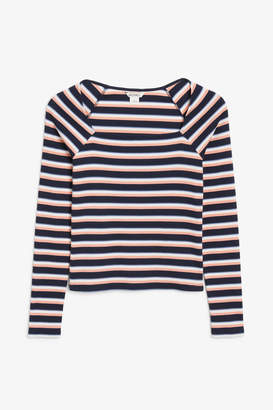 Monki Ribbed fitted top