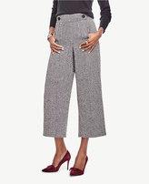 Ann Taylor Petite Herringbone Wide Leg Crop Pants