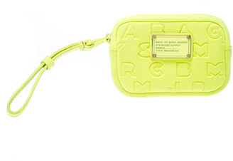 Marc by Marc Jacobs Marc by Marc Jacob Neon Green Dreamy Logo Fabric Wingnam Wristlet Pouch