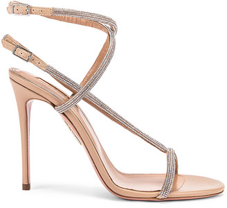 Aquazzura Moondust 105 Sandal in New Nude | FWRD