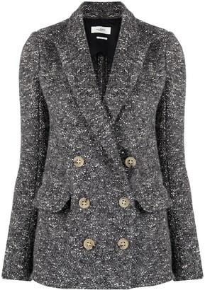 Etoile Isabel Marant Double-Breasted Tweed Jacket